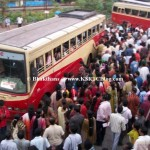 rush in ksrtc ernakulam bus stand