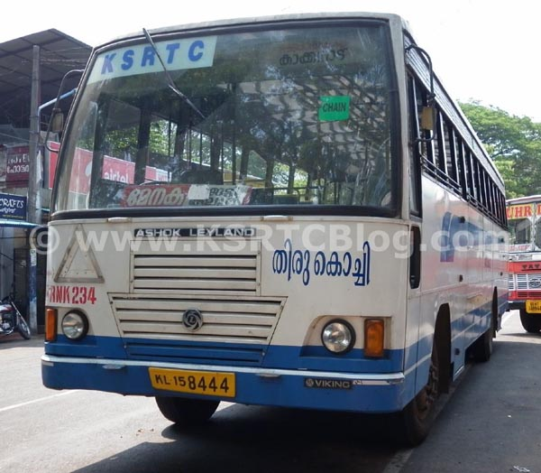 ksrtc thiru kochi bus