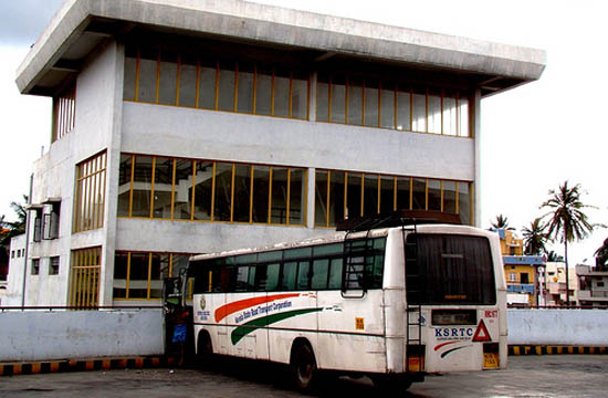 ksrtc bus in satellite bus stand bangalore