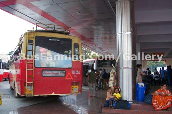 A KSRTC Fast Passenger Bus in Mysore Bus Station