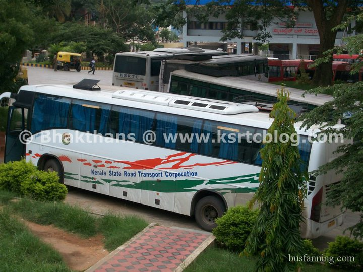 Kerala RTC Buses Parked inside Satellite Bus Station
