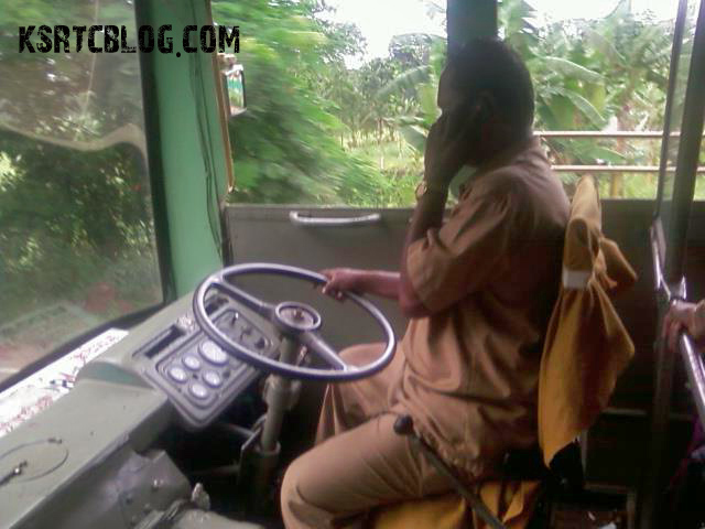 ksrtc driver on phone