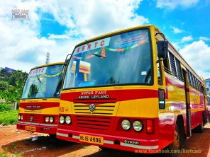 ksrtc adoor sticker work buses7