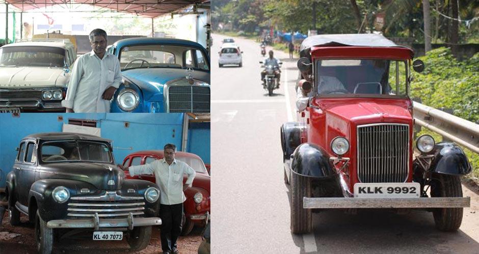 N S Vijayakumar Retired Ksrtc Bus Driver Owns Vintage Cars