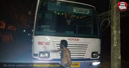 Raja ; A KSRTC Staff Cleaning his schedule Bus Daily