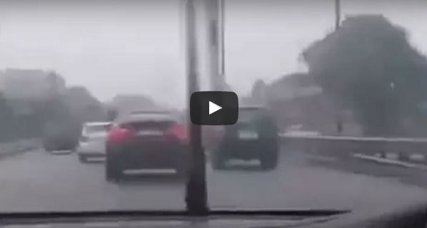 Chasing BMW X6 Ends An Accident