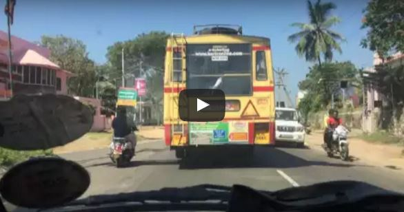 Typical KSRTC super fast overtake