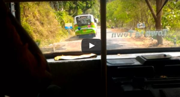KSRTC Overtaking a Private Bus on Kumily – Kottayam Route