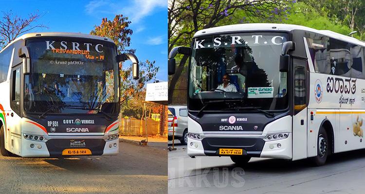 Both Kerala and Karnataka have the same bus names (KSRTC