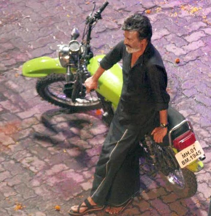 Rajnikanth's ride in Kaala is a vintage, modified Yamaha RX100