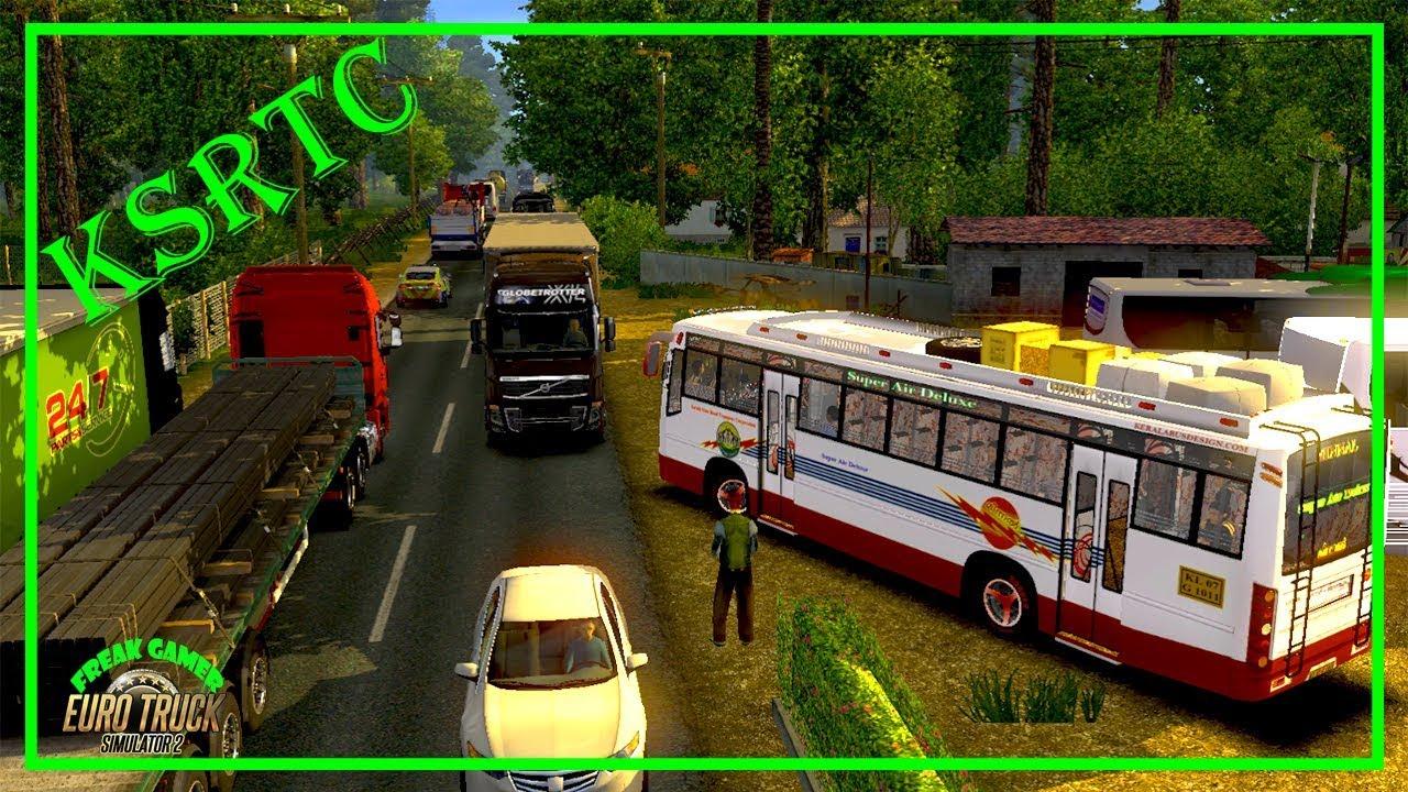 Euro Truck Simulator - KSRTC Minnal bus mode play