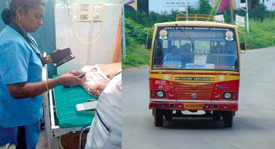 Kerala RTC Bus driver passes away which driving, Passenger saved