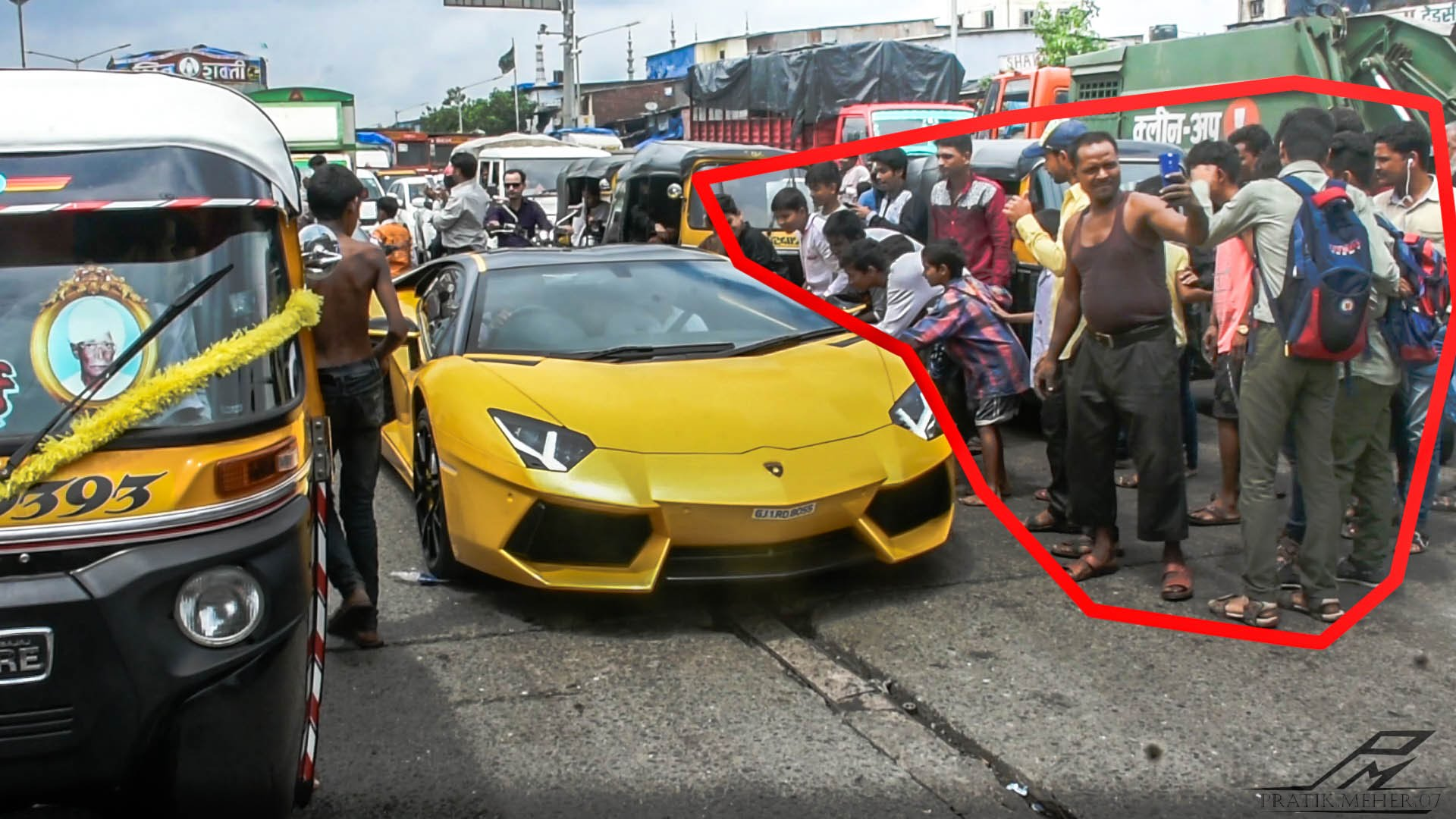 Lamborghini Cars On Indian Roads Interesting Funny Images